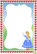 Alice In Wonderland Page Border Template