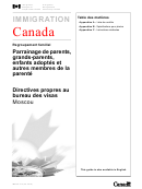 Canada Regroupement Familial Visa Instructions
