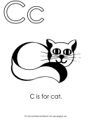 Letter C Template: C Is For Cat