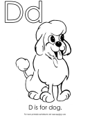 Letter D Template: D Is For Dog