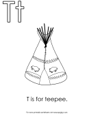 T Is For Teepee