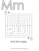 M Is For Maze