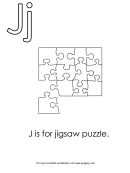 J Is For Jigsaw Puzzle