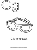 G Is For Glasses