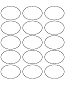 Oval Label Template
