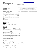 Everyone - Psalm 72:18-19 Chord Chart
