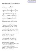 Go To Dark Gethsemane (a) Chord Chart