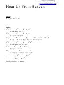 Chord Chart - Hear Us From Heaven (a)