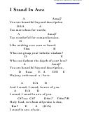 I Stand In Awe (a) Chord Chart