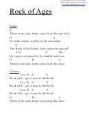 Chord Chart - Rock Of Ages (a)
