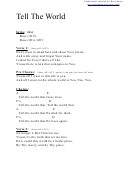 Tell The World (a) Chord Chart