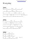 Everyday (e) Chord Chart