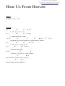 Chord Chart - Hear Us From Heaven (b)