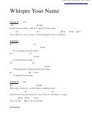 Whisper Your Name (db) Chord Chart