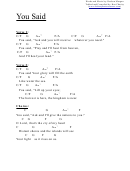 You Said (c) Chord Chart