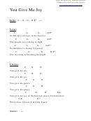 You Give Me Joy (c) Chord Chart