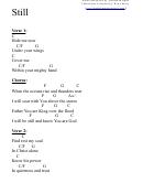 Still (c) Chord Chart