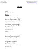 Stars (c) Chord Chart
