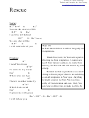 Rescue (d) Chord Chart