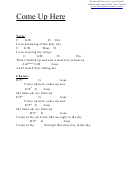 Come Up Here (c) Chord Chart