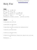 Holy Fire (c) Chord Chart