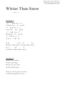 Psalm 51 (whiter Than Snow) (c) Chord Chart
