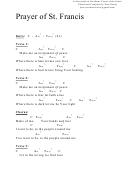 Prayer Of St. Francis (c) Chord Chart