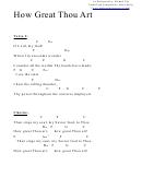How Great Thou Art (c) Chord Chart