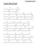 Come Thou Fount (eb) Chord Chart