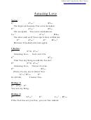 Amazing Love (eb) Chord Chart