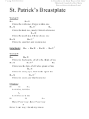 St. Patrick's Breastplate (d) Chord Chart
