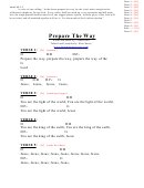 Prepare The Way (d) Chord Chart