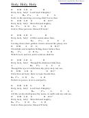 Holy, Holy, Holy (d) Chord Chart