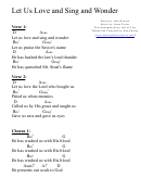 Let Us Love And Sing (d) Chord Chart