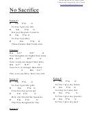 Chord Chart - No Sacrifice (d)