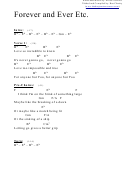 Chord Chart - Forever And Ever Etc (eb)