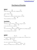 Heart Of Worship, The (eb) Chord Chart