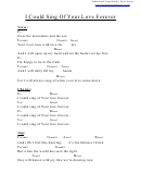 Chord Chart - I Could Sing Of Your Love Forever (eb)