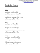 Chord Chart - Just As I Am (eb)