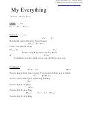Chord Chart - My Everything (eb)