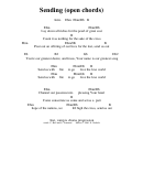 Sending (open Chords) Chord Chart