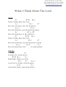 Chord Chart - When I Think About The Lord (eb)