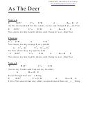 As The Deer (e) Chord Chart