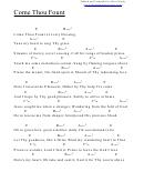 Come Thou Fount (e) Chord Chart