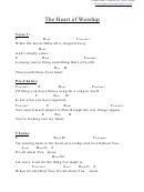 Heart Of Worship, The (e) Chord Chart