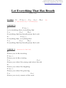 Let Everything That Has Breath (e) Chord Chart