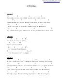 I Will Go (e) Chord Chart