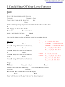 Chord Chart - I Could Sing Of Your Love Forever (e)