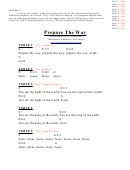Prepare The Way (e) Chord Chart