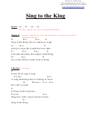 Sing To The King (e) Chord Chart